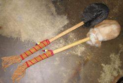 Rabbit Fur Large Drum Beater