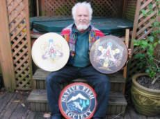 Roger Long Painted Drums